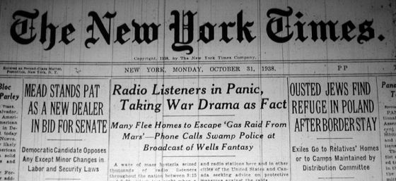 War of the Worlds -- New York Times