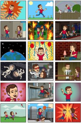Bitstrips samples