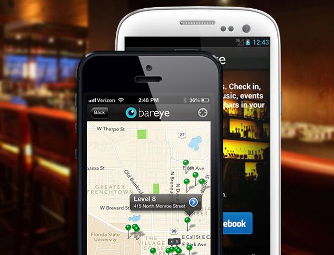 BarEye's app for buying and sending drinks