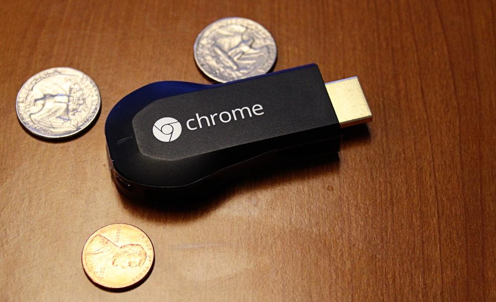 Google's Chromecast HDMI media streamer.