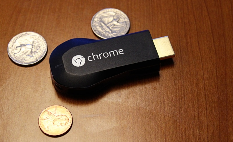 Google's Chromecast HDMI media streamer.