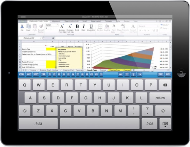 CloudOn's iPad app