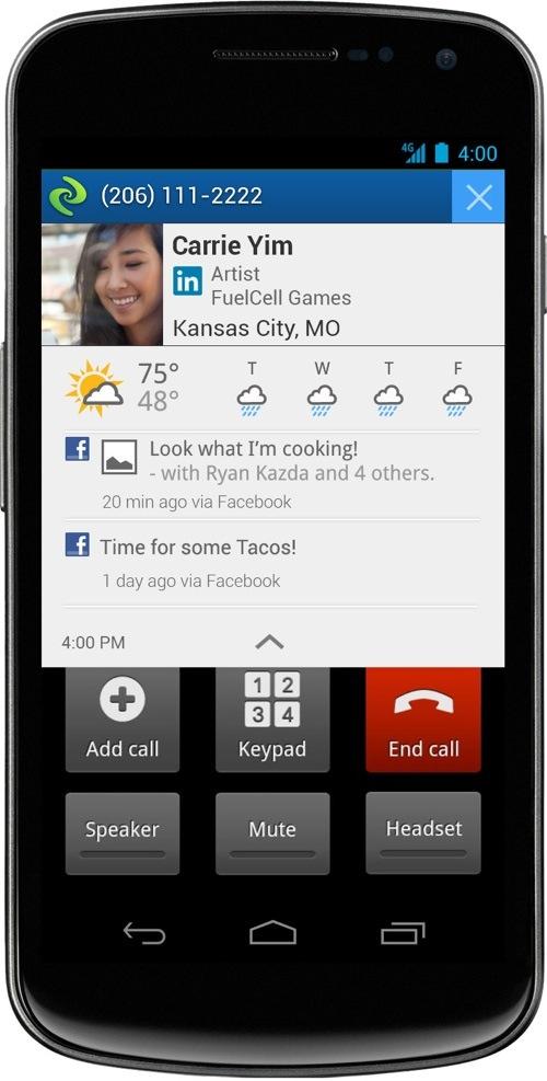 current caller id outgoing alert
