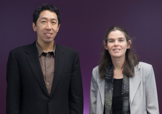 Coursera cofounders Andrew Ng and Daphne Koller