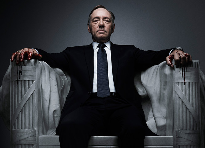 Kevin Spacey in Netflix's House of Cards