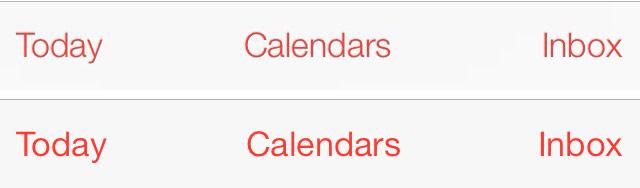 iOS 7 beta 2 versus iOS 7 beta 3 fonts