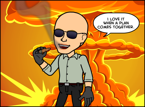 Apparently me, myself, and I as a Bitstrip character