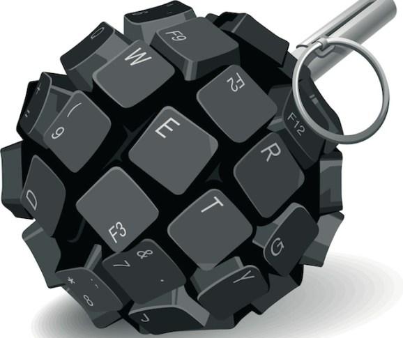 Keyboard grenade from Shutterstock