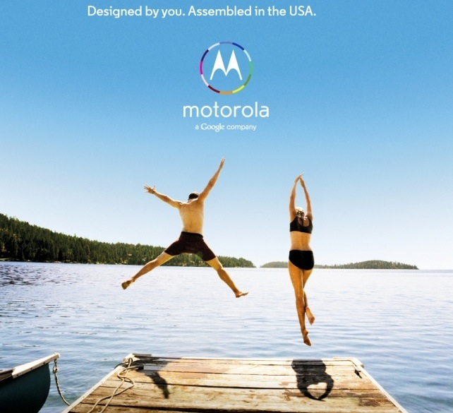 An ad for Motorola's upcoming smartphone made in the U.S.
