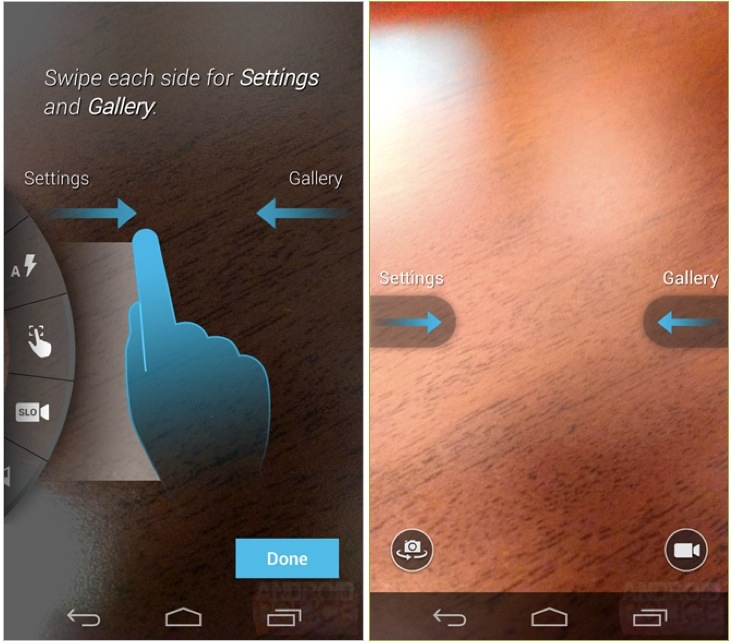 The Moto X's simple camera interface.