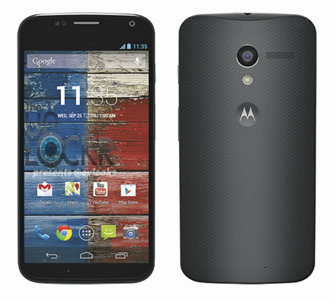 A press rendering of the upcoming Moto X