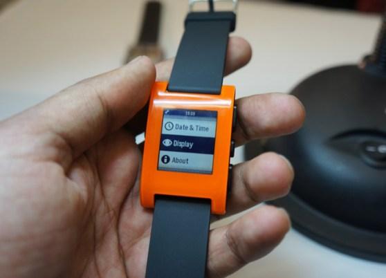 The Pebble smartwatch