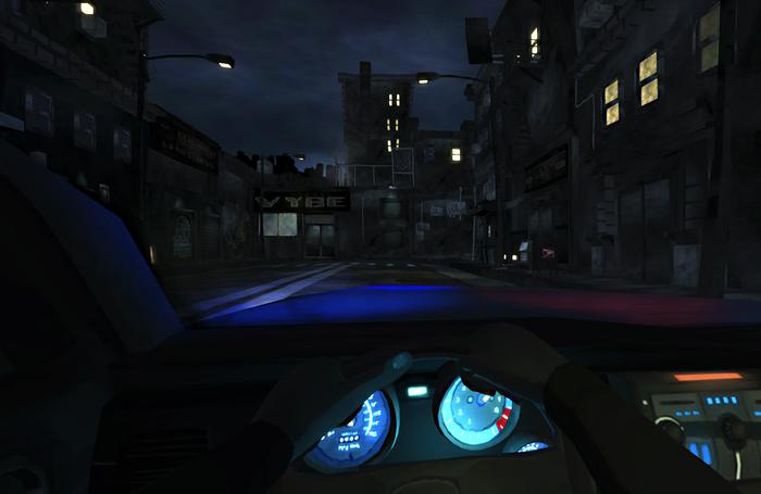 Concept art for police adventure game Precinct.