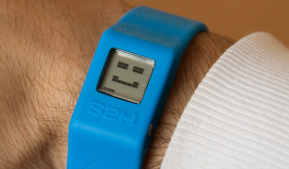 Fitness-tracking devices, like this one from S2H, can help motivate employees toward better health.
