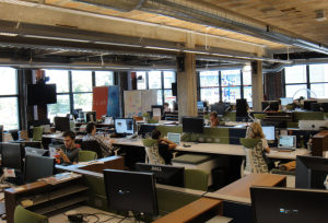 Startup space at Detroit Venture Partners in Detroit.