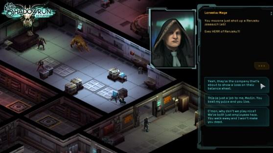 Shadowrun Returns conversation