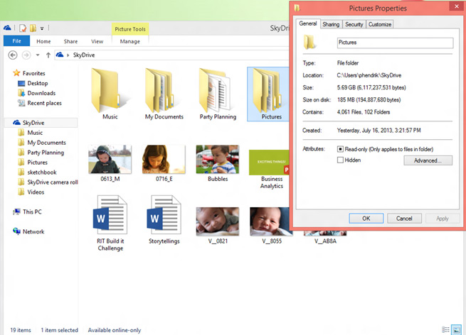 Placeholder files in SkyDrive in Windows 8.1