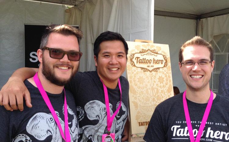 Steve Tannahill, Minh Dao, and Brandon Waselnuk of Tattoo Hero