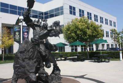 Warcraft statue at Blizzard HQ