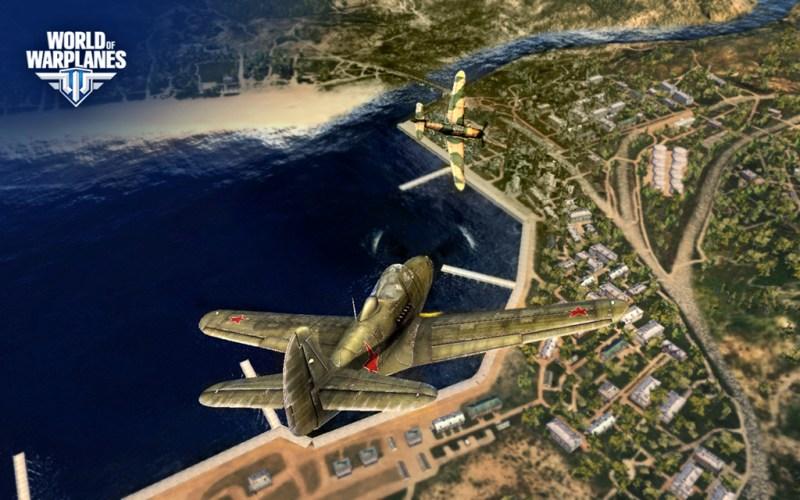 Online dog-fighting game World of Warplanes in action.