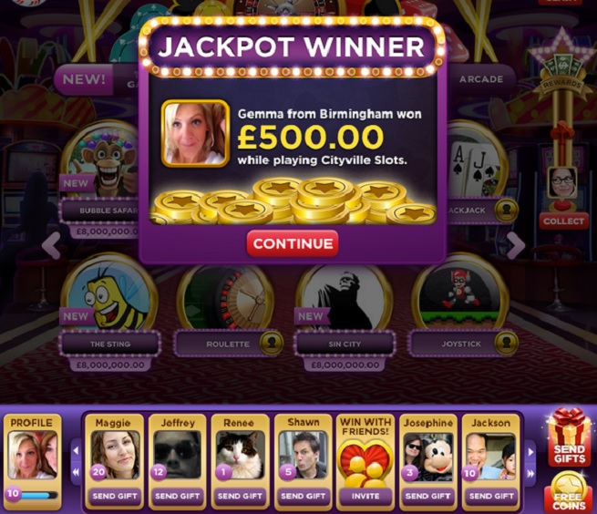 Zynga real-money gambling app