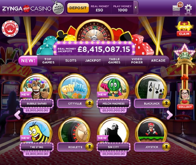 Zynga's real-money gambling app. Sorry, you can't gamble legally in the U.S. yet online.