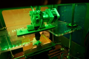 A 3D printer making a turtle