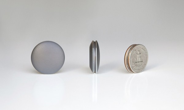 The Misfit Shine is about the size of a quarter