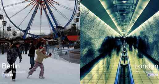 Berlin versus London comparison image, from the Versus.com website.