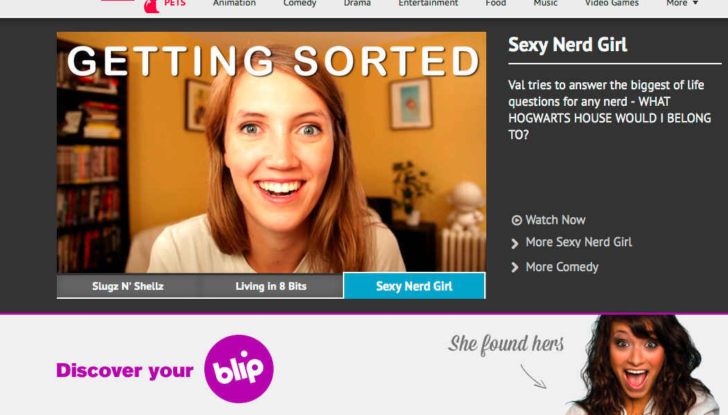 Blip.tv home page