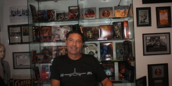 Above Jack's Surfboards, indie game creator Brian Fargo holds court amid his Kickstarter riches