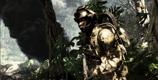 Call of Duty: Ghosts. Burning jungle.