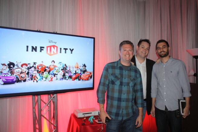 Scott Humphries, John Vignocci, a Dan Lehrich of Disney Infinity team.