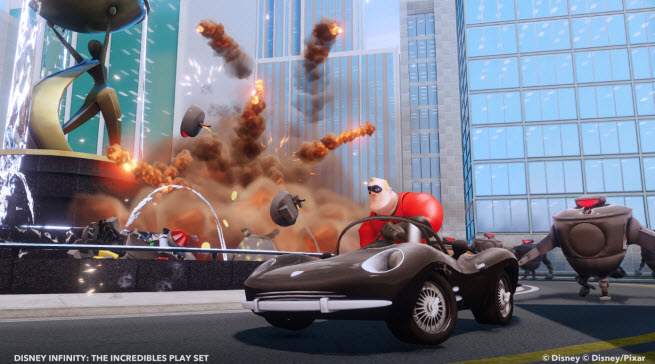 Disney Infinity's The Incredibles playset.