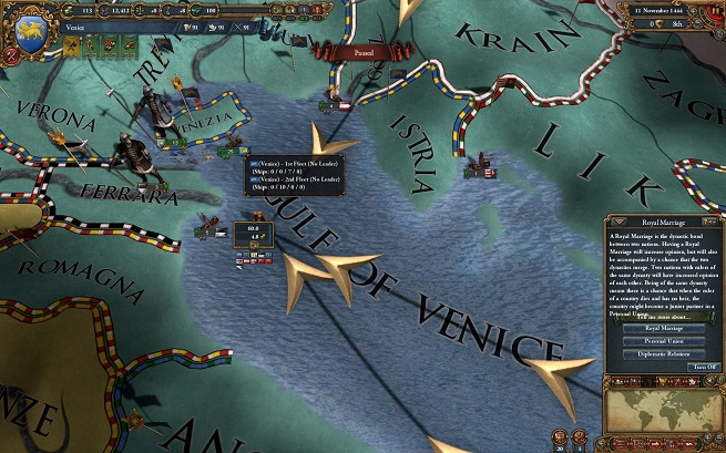 EU4 trade flows into Venice