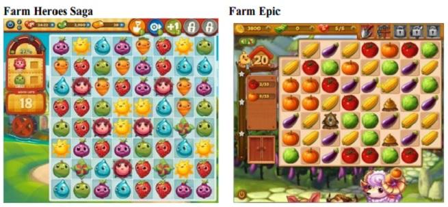 Farm Heroes Saga side by side with Farm Epic