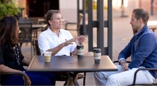 Through SoFi, Stanford alumni Jim Keene gave a loan to Stanford student David Bowman