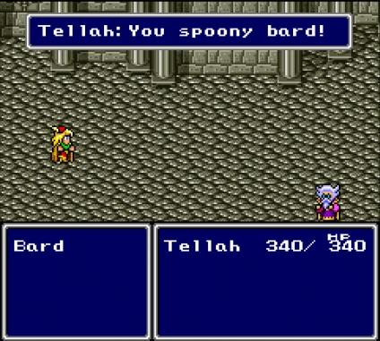 Spoony bard!