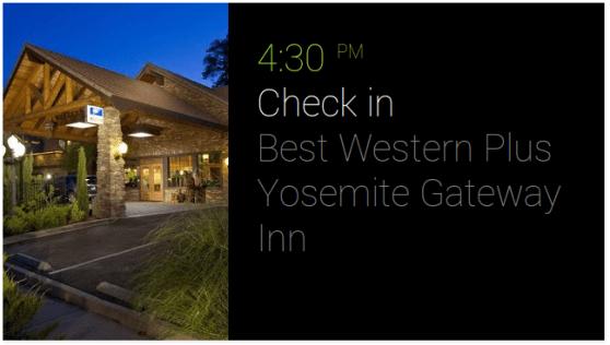 Google Glass check in hotel
