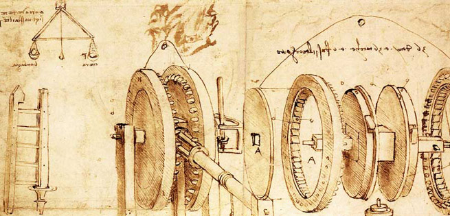Da Vinci blueprints