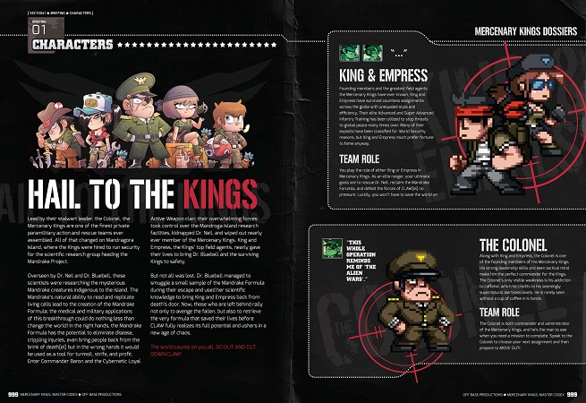 Mercenary Kings Codex Characters Sample