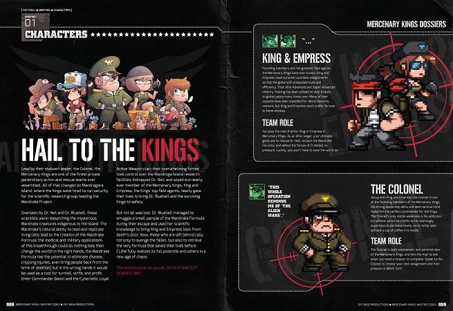 Mercenary Kings Codex Characters Sample