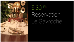 google glass dinner reservation