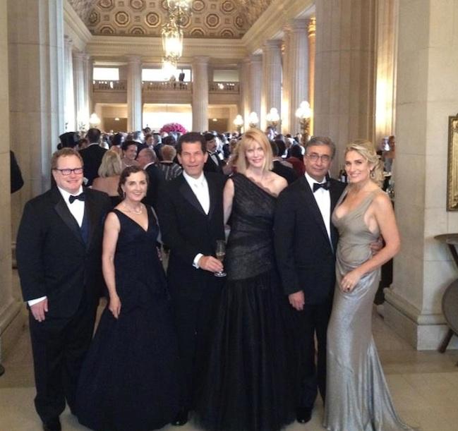 New Opera board member Karen Richardson (center) attends a performance with fellow tech executives