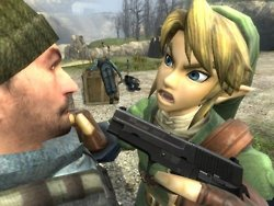 Link will strike you down with great vengeance and a furious anger.