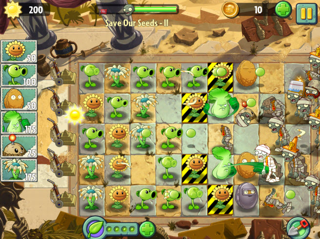 Plants vs. Zombies 2. Save our seeds II.
