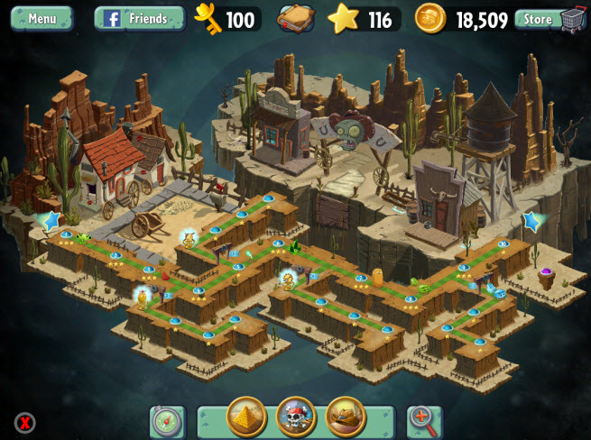 Plants vs. Zombies 2 for mobile devices.