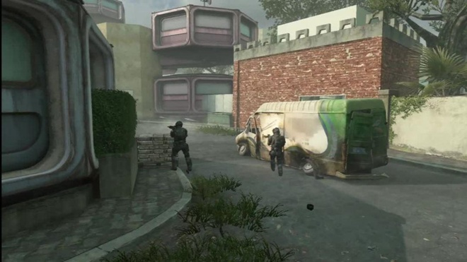 The abandoned communist utopia map Pod from Black Ops II's Apocalypse DLC.