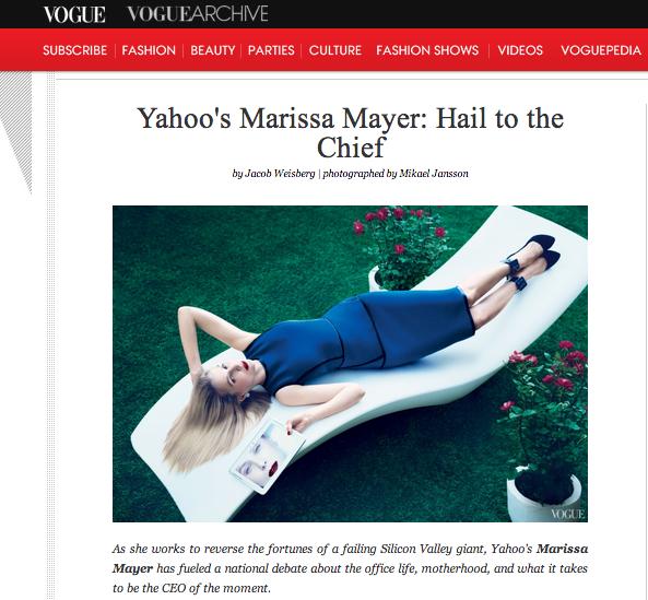 A screenshot from that Marissa Mayer Vogue shoot