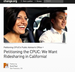 A Change.org petition started by Sidecar cofounder Sunil Paul